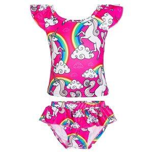 Other - 🛑2 FOR $33    4T Unicorn/Rainbow Ruffle Bikini